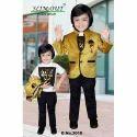 Kids Golden Blazer Set