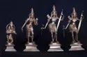 Panchaloham Sri Ram, Lakshmana, Sita With Anjaneyar  6 Inch