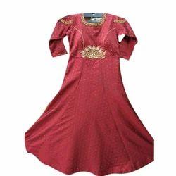 Lycra Cotton Embroidered Fancy Anarkali Suit