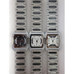 Casual Silver Tone Chain Wrist Watch
