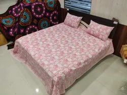 Indian Rajasthani Print Jaipuri Cotton Bed Sheet with 2 Pillow Covers Double Bedsheet - King Size Be