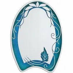 Nutan Border Printed Decorative Glass Mirror