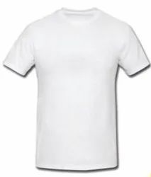 SS Polyester White Lycra T-Shirt, Age Group: 18+, Quantity Per Pack: 10 Per Pack