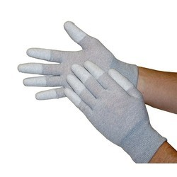 ESD PU Finger Top Coated Gloves