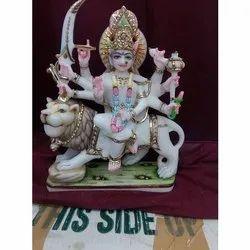 White Durga Mata Statue