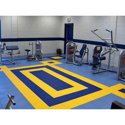 Colored Gym Flooring Services