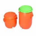 Plastic Orange Drums With Taps