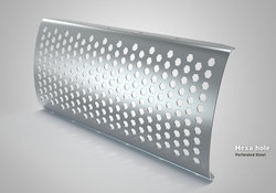 Hexa Hole Perforated Sheet