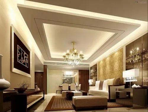 Living Room Interior Ceiling Decor