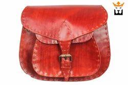 Leather Buff Saddle Bag