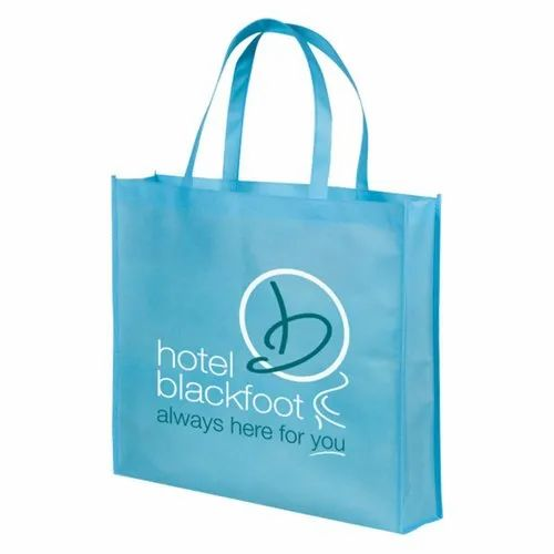 Blue Printed Non Woven Loop Handle Bag, Size: 16 X 20 Inch