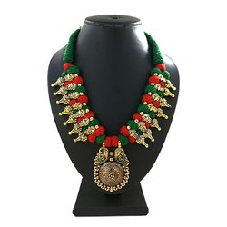 Fancy Meenakari Kolhapuri Necklace