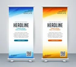 White Flex Roll Up Standee Printing Services, For Advertising, Size: 2.5 X 6 Feet, 6 X 3 Feet