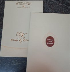 Book Style Invitation Cards