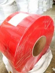PVC Strip Curtain Rolls Supreme Grade Red Opaque