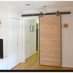 Brown Soundproof Wooden Sliding Door, Size/Dimension: 6 X 3 Feet