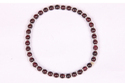 Garnet Rubber Bracelet With Silver Plated Spacer