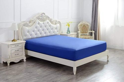 Splendid Fitted Bed Sheet Solid Royal, Royal Blue Queen Bed Sheets