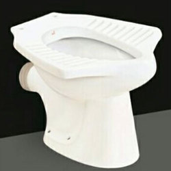 Closed Front Floor Mounted Anglo Indian Water Closet P & S Type, For Bathroom Fitting