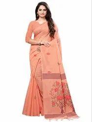 Plain Savitri 1 Festive Wear Cotton Silk Solid Saree