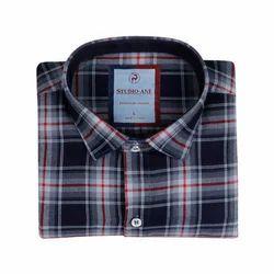 Regular Wear Full Sleeves Check Shirt
