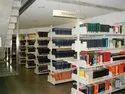 Steel White Modular College Library Racks