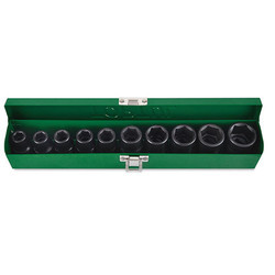 1/2 DR. 6PT Flank Impact Socket Set (Metric)