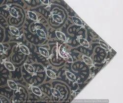 Sanganeri Double Dabu Hand Block Print Fabric Vegetable Color
