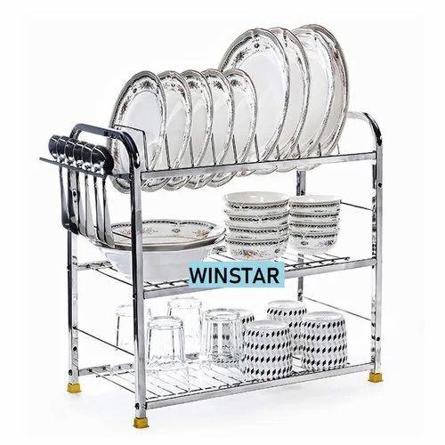 Winstar Stainless Steel Wall Mount Kitchen Utensils Rack Rs 1099 Piece Id 21025511197