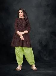 Traditional Fancy Ladies Dhoti Suit