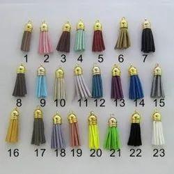 Plain Leather Tassel, for Garment, Packaging Type: Packet