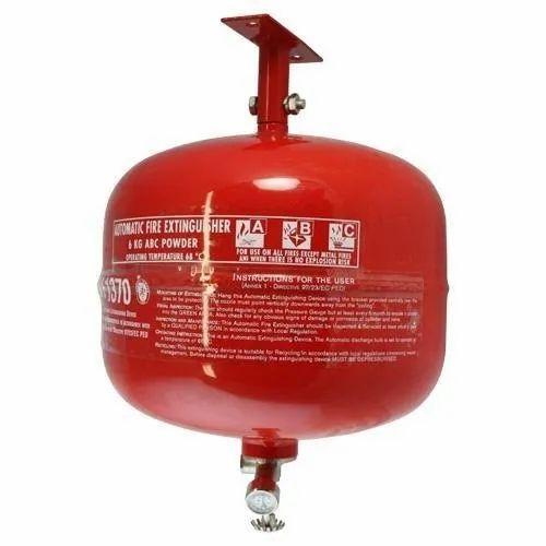 MS Body A B C Dry Powder Type Automatic Modular Fire Extinguisher, Capacity: 6 Kg