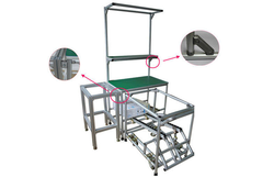 WIPL Durable Aluminum Frame Pipe Workbench