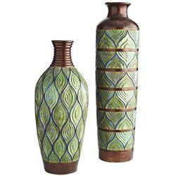 Peacock Vases