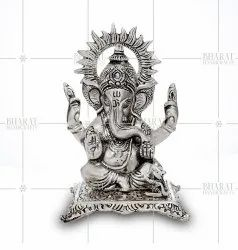Silver Plated Ganesh Metal