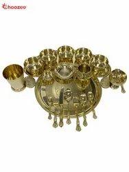 Brass Maharaja Thali Set (19 Pcs)