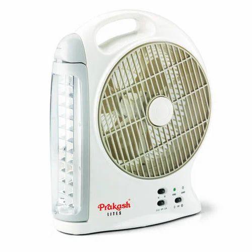 White Rechargeable Fan Cum Light Rs 2150 Piece Vivek