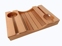 Horseshoe Reclaimed Wood Wine Serving Tray