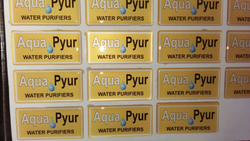 PVC Rectangular Dome Stickers, For Advertising