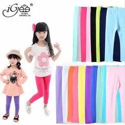Regular Wear Multicolor Kids Leggings