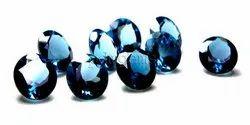 London Blue Topaz Faceted Round Cut Gemstone