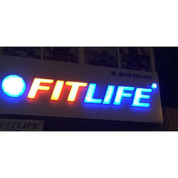 3D Acrylic Glow Letters Sign Board