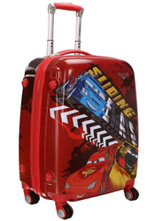 18 or 22 Disney Cars Printed Polycarbonate/ABS 4 Wheel Tourist Trolley Cabin Luggage Trolley Bag
