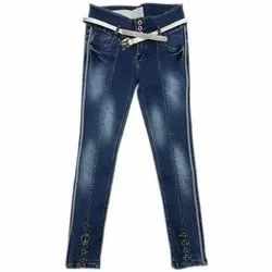 Blue Stretchable Women Denim Jeans, Packaging Type: Packet, Waist Size: 26 to 34
