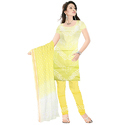 Yellow Bandhani Suit