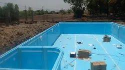 Blue Fiberglass FRP Swimming Pool, Dimension: Lenth -10-30 Ft, 2.5 To 5 Ft