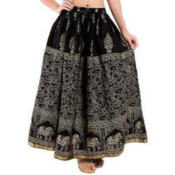Cotton Jaipuri Long Skirt