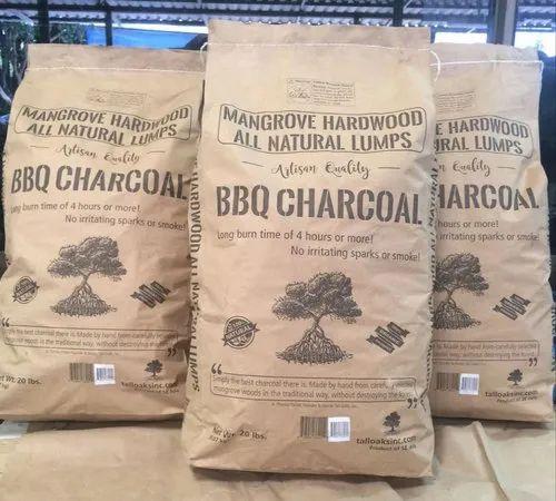 High Quality Long Burning Low Ash Natural Wood Mangrove Bbq Charcoal