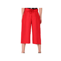 Ladies Red Palazzo Pants