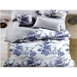 Flower Printed Double Bed Sheets